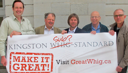 Photo: Project team launches GreatWhig campaign